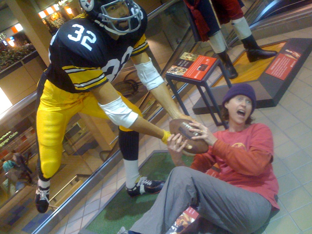 At the immaculate reception in Pittsburgh